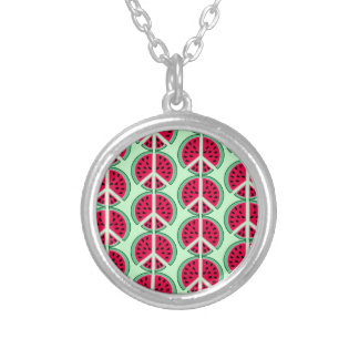 Summer Watermelon Silver Plated Necklace