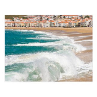 Summer waves in Nazare Postcard