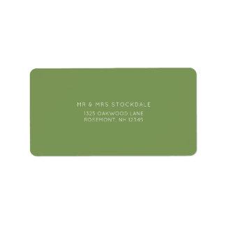 Summer Wedding Green and White Return Label Address Label