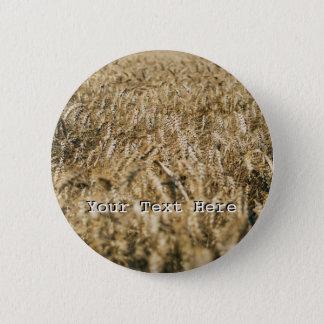 Summer Wheat Field Closeup Farm Photo 6 Cm Round Badge