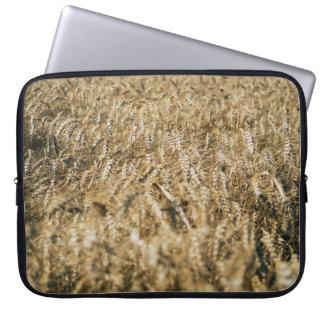 Summer Wheat Field Closeup Farm Photo Laptop Sleeve