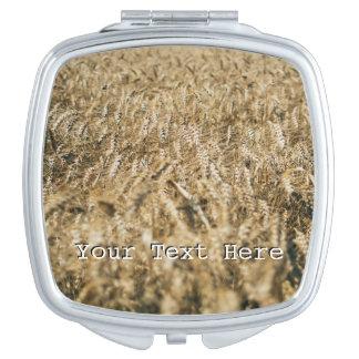 Summer Wheat Field Closeup Farm Photo Makeup Mirror