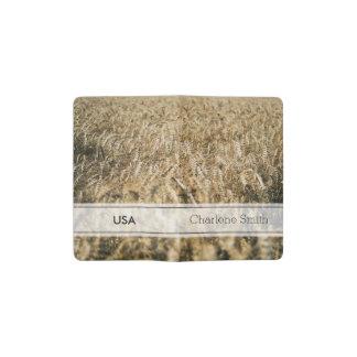 Summer Wheat Field Closeup Farm Photo Pocket Moleskine Notebook