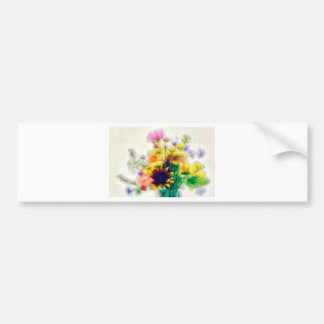 Summer Wildflower Bouquet Bumper Sticker