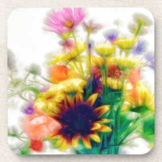 Summer Wildflower Bouquet Coaster