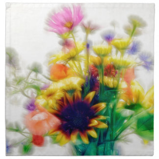 Summer Wildflower Bouquet Napkin