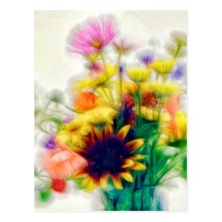 Summer Wildflower Bouquet Postcard