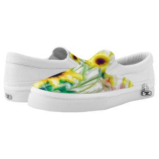 Summer Wildflower Bouquet Slip On Shoes