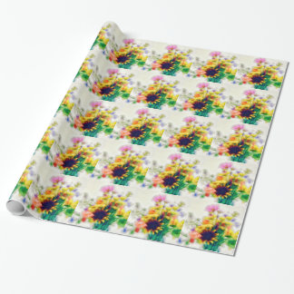Summer Wildflower Bouquet Wrapping Paper