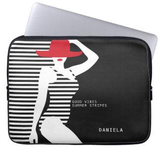Summer Woman custom name laptop sleeves
