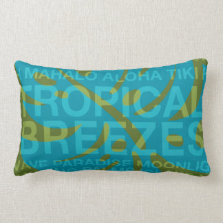 Summer Words Tropical and Monstera Leaf Pillows