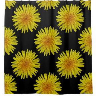 Summer Yellow Dandelion Flower on any Colour Shower Curtain