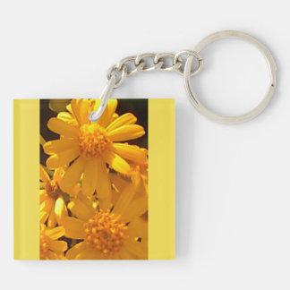 Summer Yellow  Sunflower Acrylic Keychain