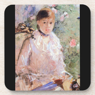 Summer Young woman at the window by Morisot Coaster