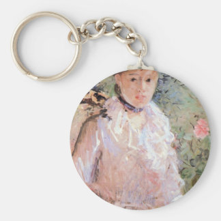 Summer (Young woman at the window) by Morisot Keychains