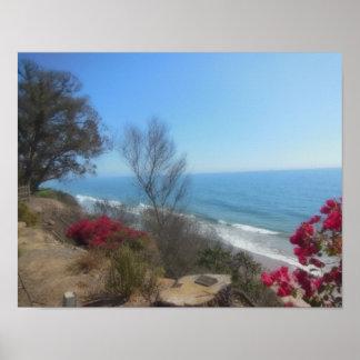 Summerland Beach Near Santa Barbara Poster