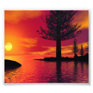 Summerland Sunset Art Photo