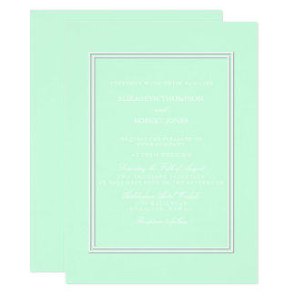 Summermint Pastel Green Mint Wedding 14 Cm X 19 Cm Invitation Card