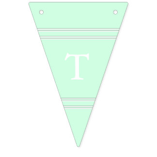 Summermint Pastel Green Mint Wedding Bunting