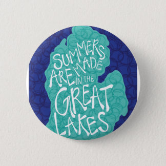 Summers Are Made In The Great Lakes - Apron 6 Cm Round Badge