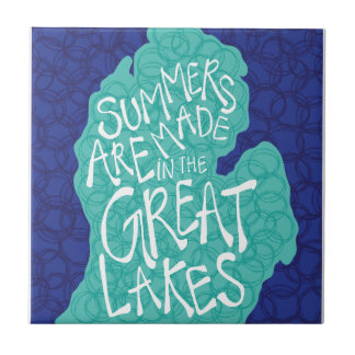 Summers Are Made In The Great Lakes - Apron Ceramic Tile