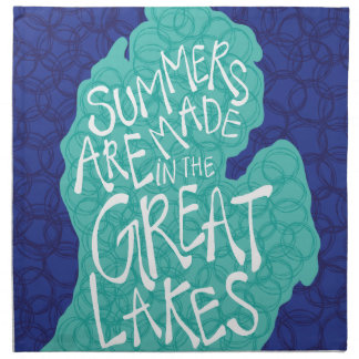 Summers Are Made In The Great Lakes - Apron Napkin