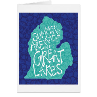Summers Are Made In The Great Lakes - Blue Card