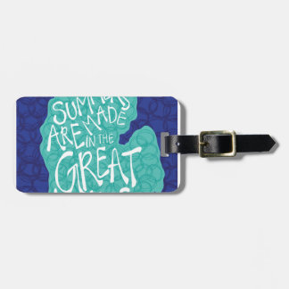 Summers Are Made In The Great Lakes - Blue Luggage Tag