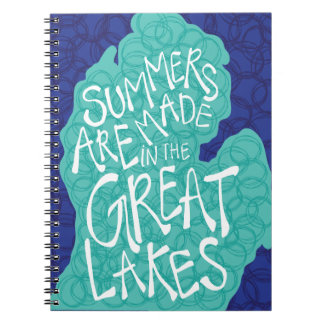 Summers Are Made In The Great Lakes - Blue Notebooks