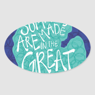 Summers Are Made In The Great Lakes - Blue Oval Sticker