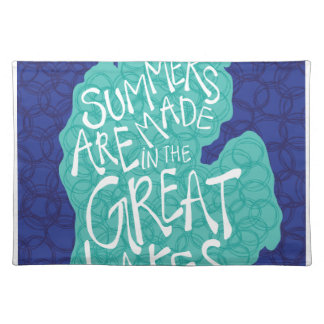 Summers Are Made In The Great Lakes - Blue Placemat