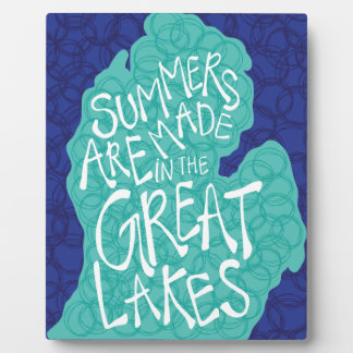 Summers Are Made In The Great Lakes - Blue Plaque