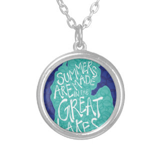Summers Are Made In The Great Lakes - Blue Silver Plated Necklace