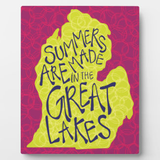 Summers Are Made In The Great Lakes - Kids! Plaque
