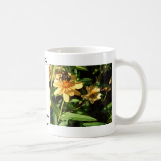 Summer's Day Bee on Sunny Yellow Flowers Coffee Mug