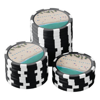 Summertime Candy Beach Poker Chips