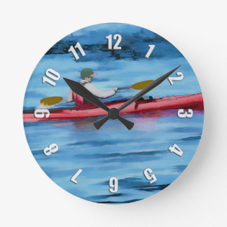 Summertime Fun   -   Kayaker Round Clock