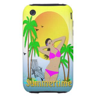 Summertime - Girl iPhone 3g Case-Mate Tough Case iPhone 3 Tough Case