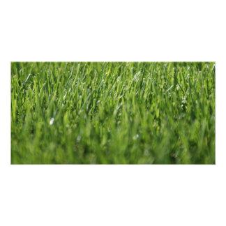 Summertime Grass Customised Photo Card
