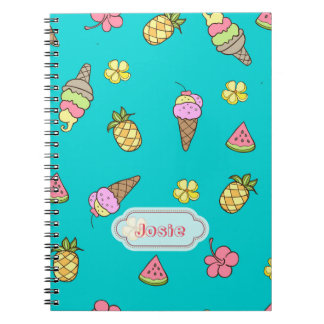 Summertime Ice-Cream Spiral Notebook