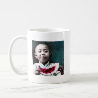 Summertime in Old Japan Vintage Watermelon Coffee Mug