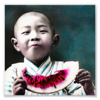 Summertime in Old Japan Vintage Watermelon Photo Print