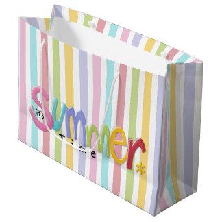 Summertime Large Glossy Gift Bag