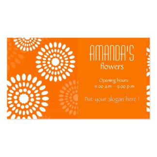 Summertime orange flowers Business Card