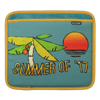 SummerTime - Perfect Beach Sunset - Tiled on Back iPad Sleeve