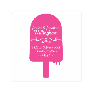 Summertime Popsicle Return Address Stamp