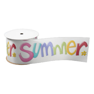 Summertime Ribbons Satin Ribbon