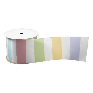 Summertime Stripes Ribbons Satin Ribbon