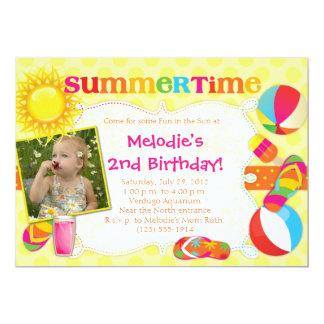 SUMMERTIME - Summer-Themed Party Invitations GIRL