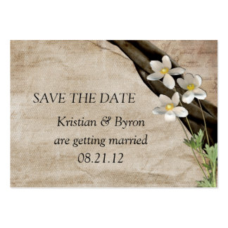Summertime Wedding Save The Date Pack Of Chubby Business Cards